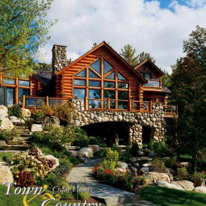 Log Lodge Gallery Town And Country Cedar Homes House On Stilts Cottage Floor Plans Log Homes