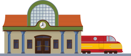 Train Station Cartoon Png Cartoons Png Train Station Png Images