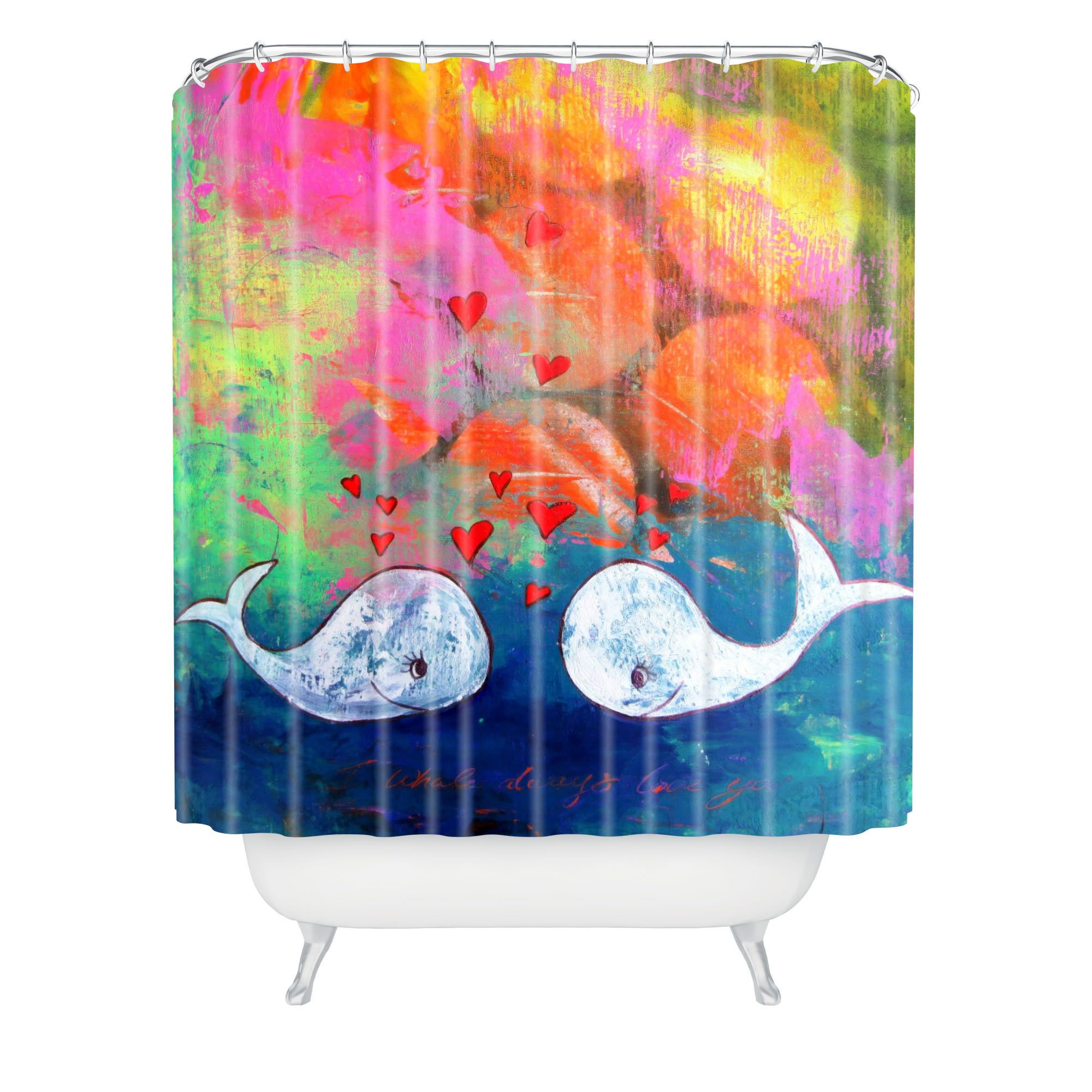 DENY Designs Sophia Buddenhagen I Whale Always Love You Shower Curtain