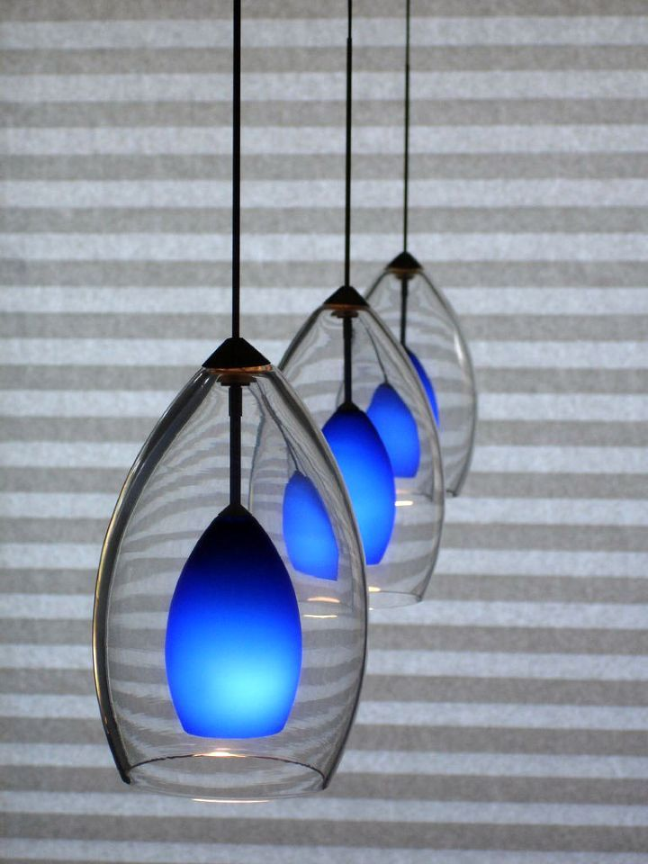 Check Out These 17 Diy Pendant Lighting Ideas You Can Get Done With No Fuss And Get Inspired Now Diy Pendant Light Blue Pendant Light Hanging Light Fixtures Cobalt blue pendant lights