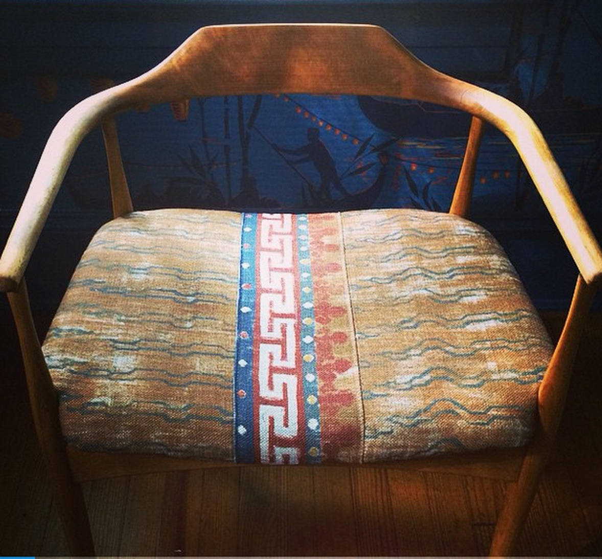 CLOTH & KIND Interior Design // vintage chair reupholstered in @zakandfox