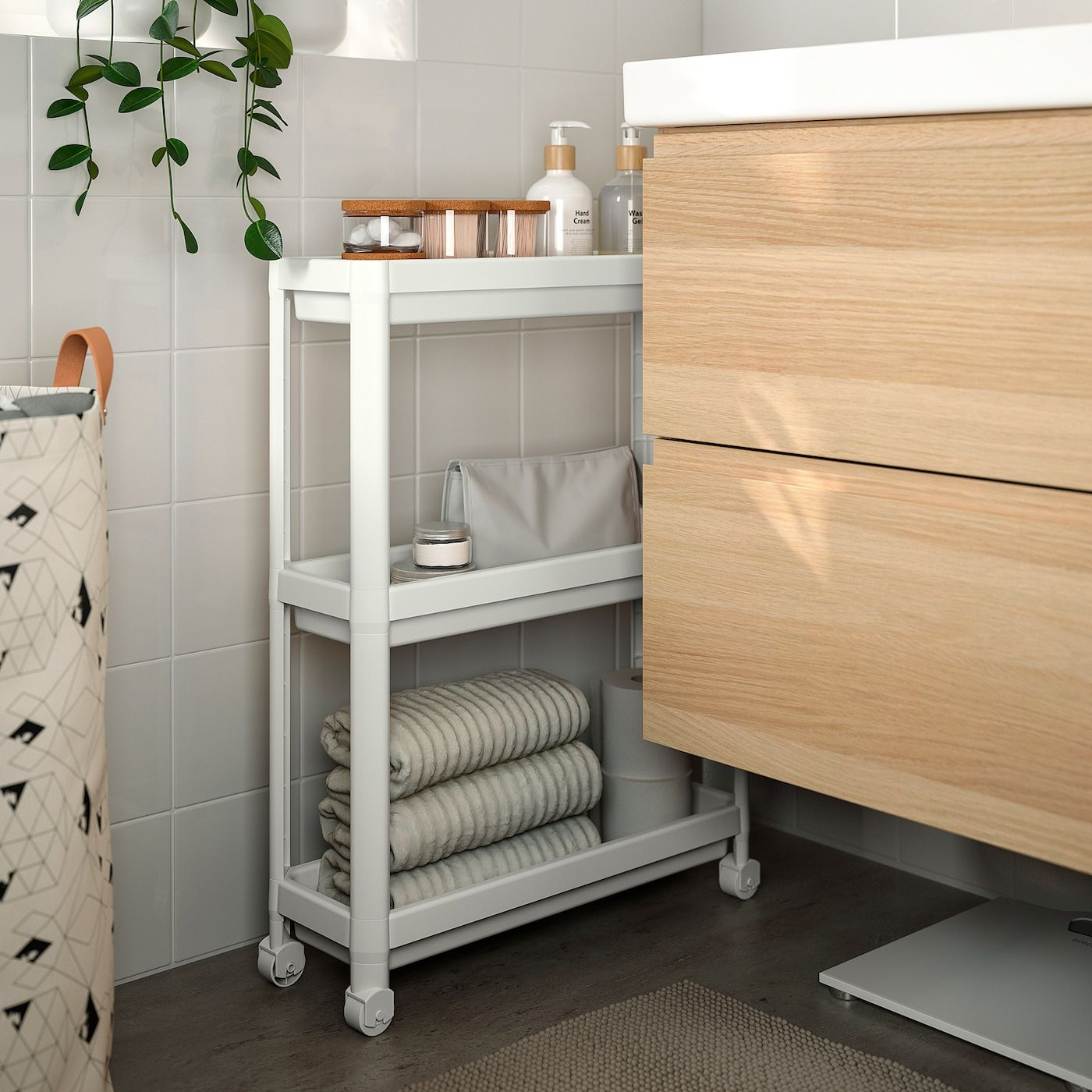 Vesken Rollwagen Weiss Ikea Osterreich In 2020 Ikea Ikea Storage Bathroom Storage Units