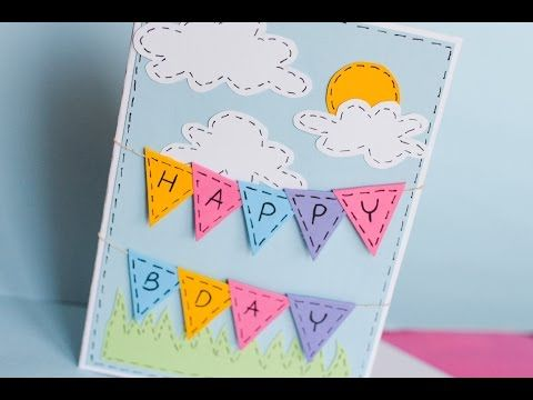 How To Make Greeting Birthday Card Step By Step Homemade Birthday Cards Birthday Card Drawing Birthday Cards