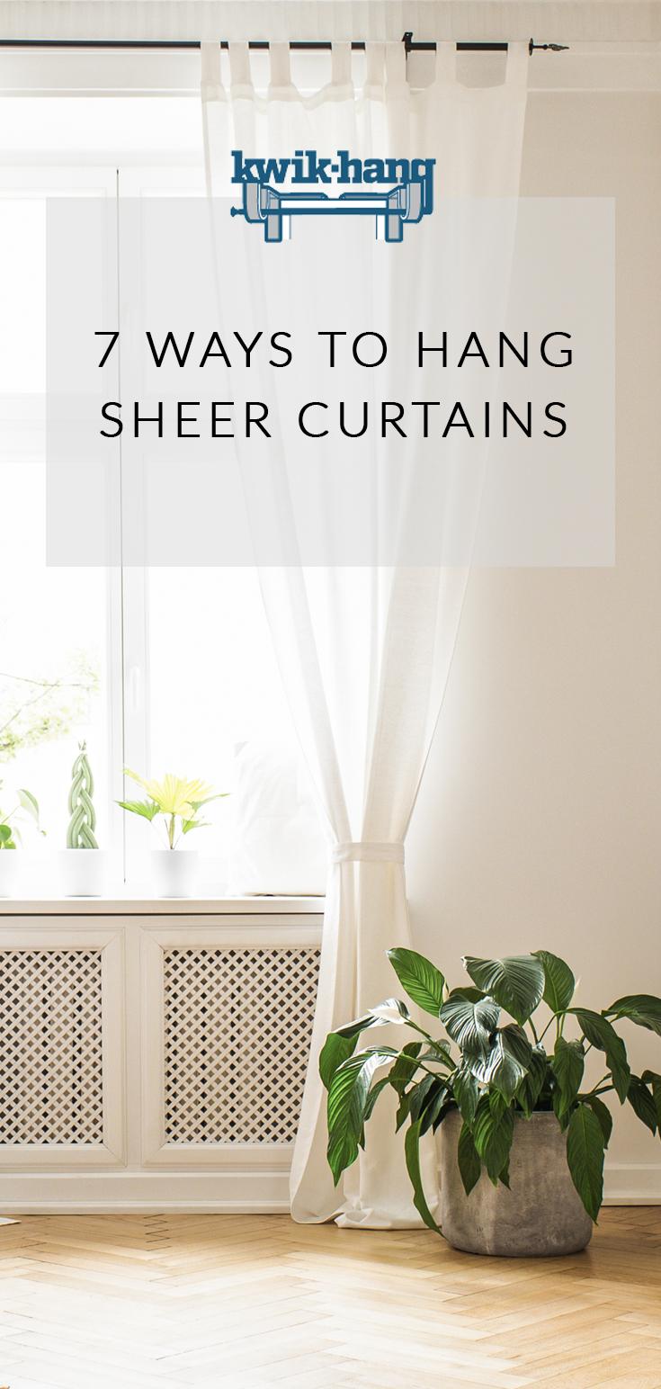 12 Ways to Hang Sheer Curtains   Curtains Up Blog   Kwik Hang ...