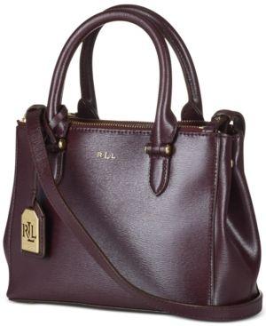 073f142e5f Macys has Lauren Ralph Lauren Newbury Mini Double Zip Satchel on sale for   145.34 only. Handbags OnlineMini BagsLeather ...