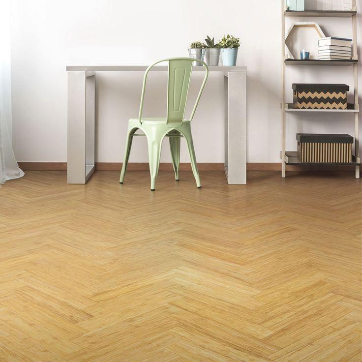 Parquet Block Bamboo Flooring in a Natural Colour. EcoFr