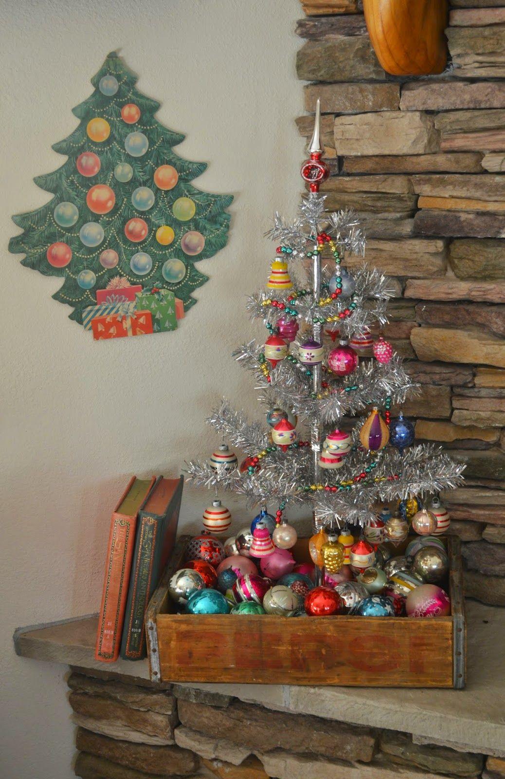 A Little Bit Rustic A Little Bit Vintage Vintage Christmas Tree Decorations Vintage Christmas Balls Vintage Christmas Decorations