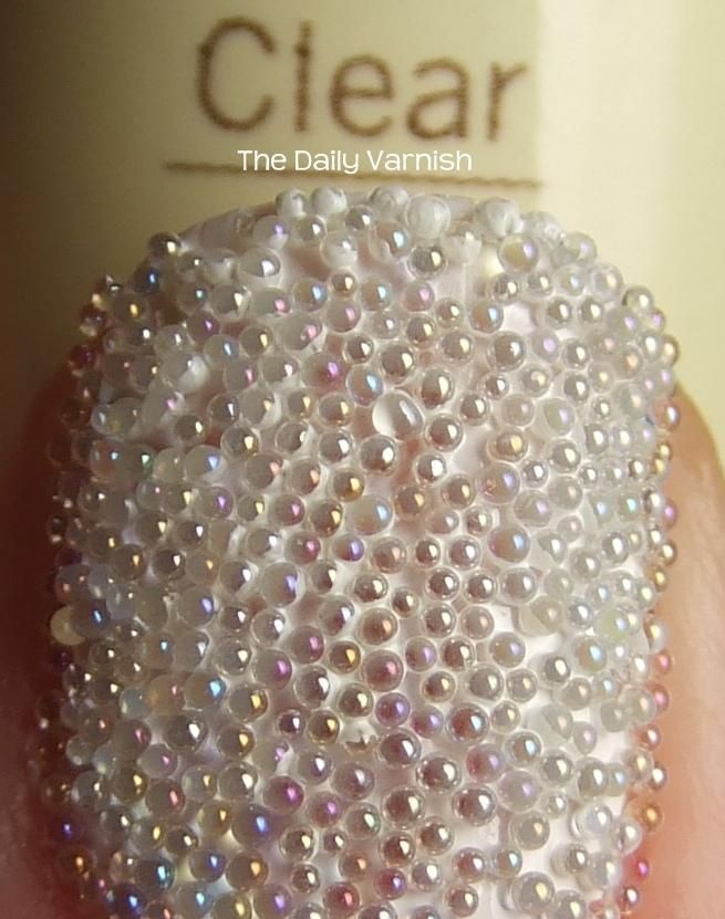 Clear Caviar Manicure MACRO! DIY not the Sephora one! i feel like ...