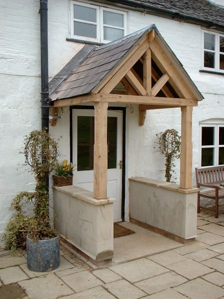 Porches hortus ligneous architecture pinterest for Porch designs for bungalows uk