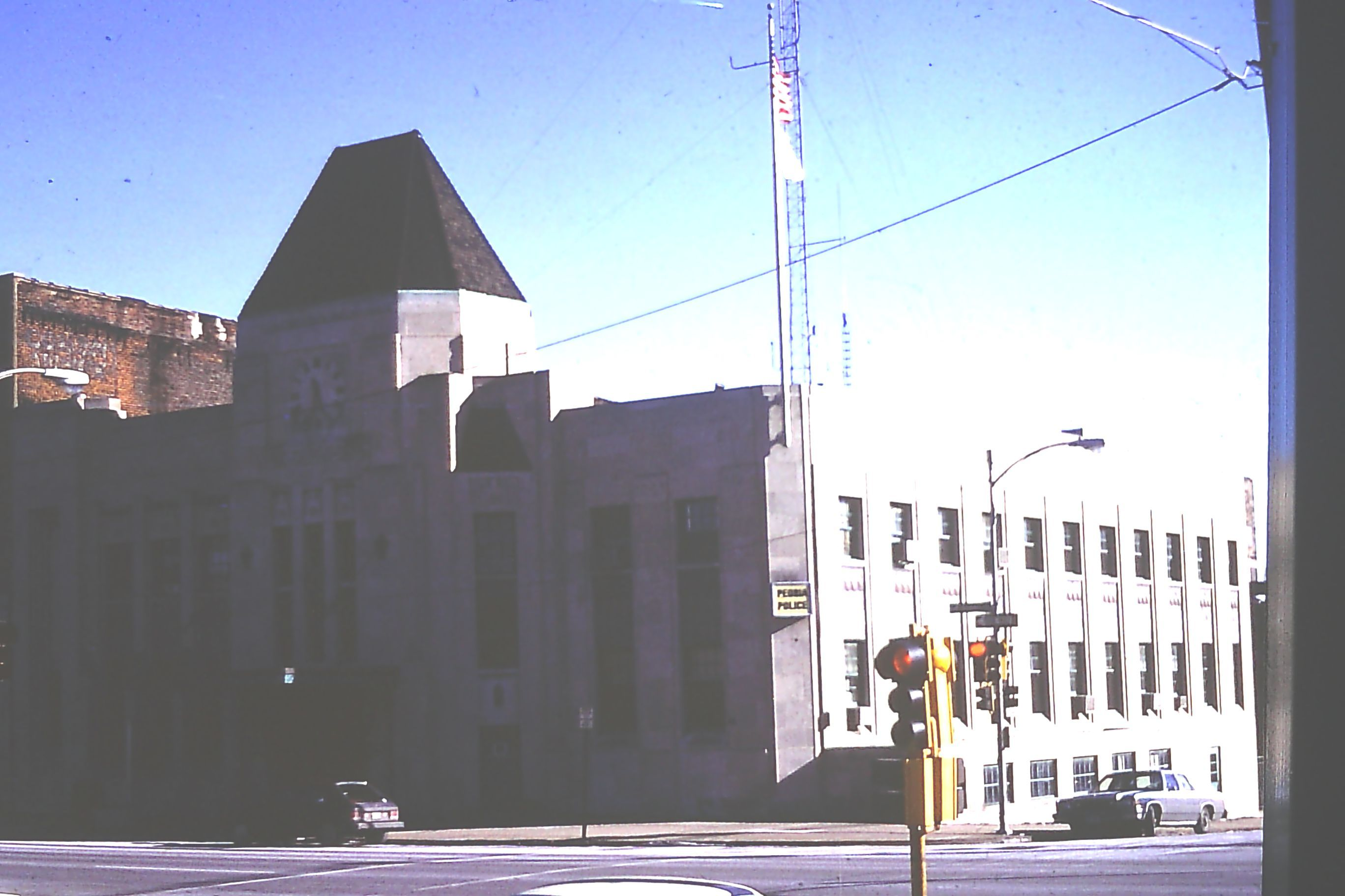 This Is A Picture Of The Old Peoria Police Station Peoria Old Pictures Pictures