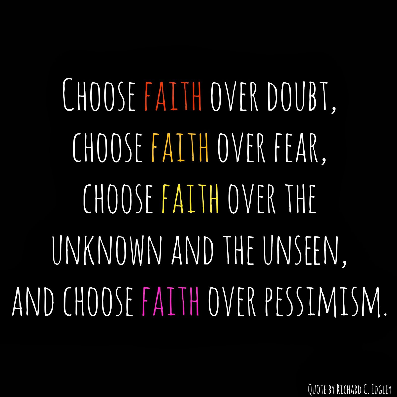 Famous Quotes About Fear: Choose Faith Over Fear Quote And Free Printable