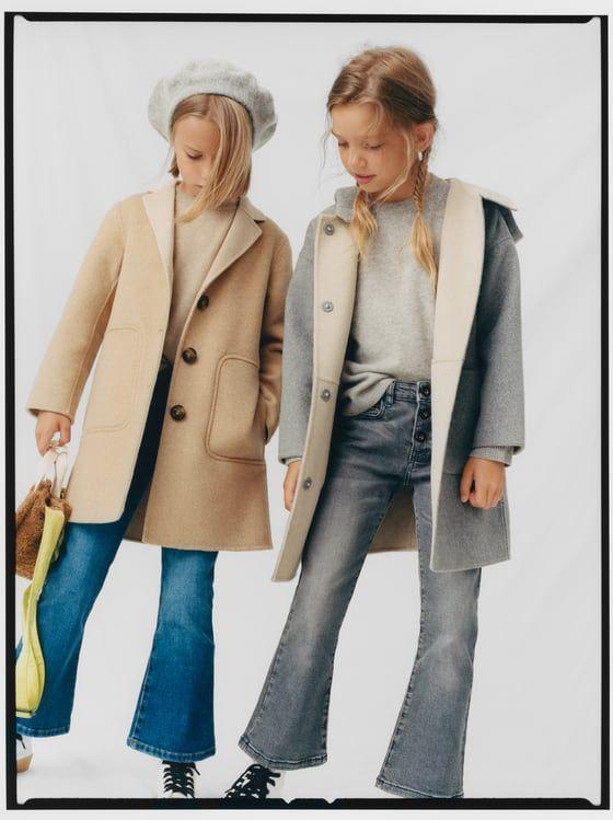 Zara Kids Coat With Two Tone Hood Abrigos Abrigos Con Capucha Zara Kids