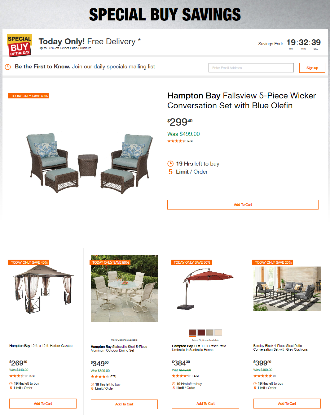 Home Depot Coupons Up To 50 Off Select Patio Furniture Home Depot Coupons Home Depot Patio
