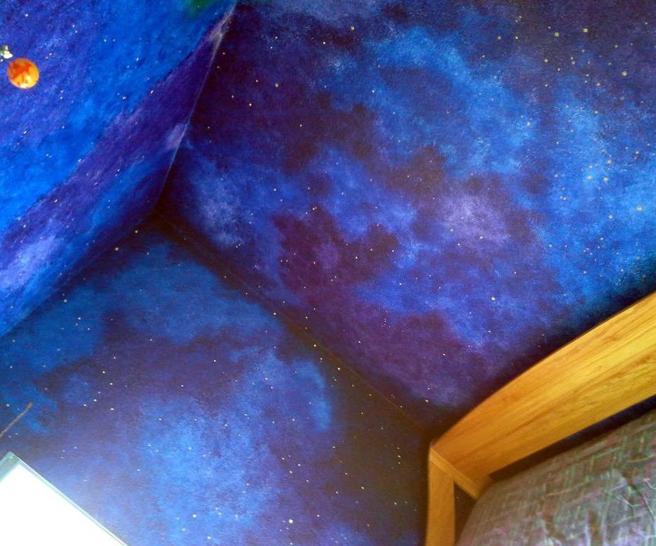 Paint Walls To Look Like Galaxy