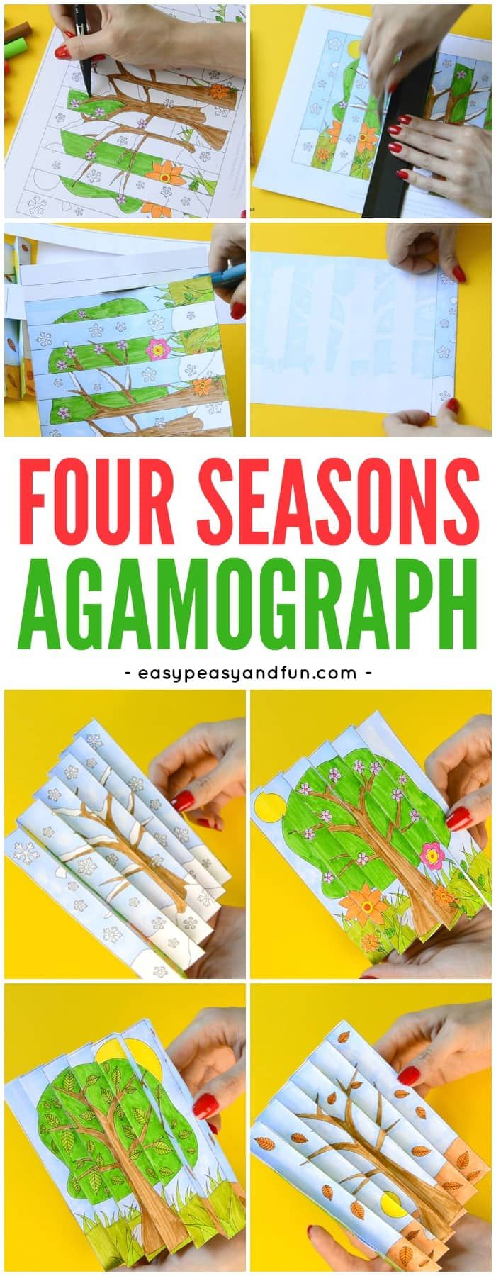 back to school agamograph template printable template four seasons agamograph paper craft for 5927