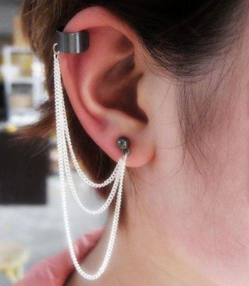 Kolczyki Cuff Earrings Trendy Stud Earrings Ear Cuff