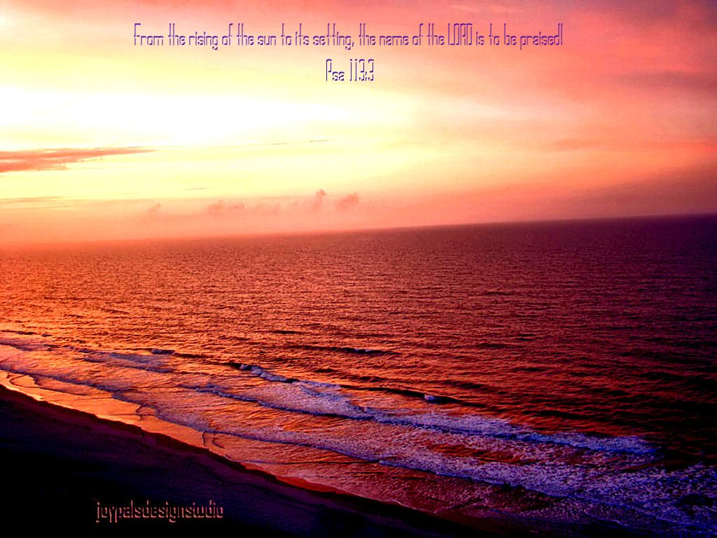Scripture Wallpaper Love the Beach Ocean Sunrise Desktop