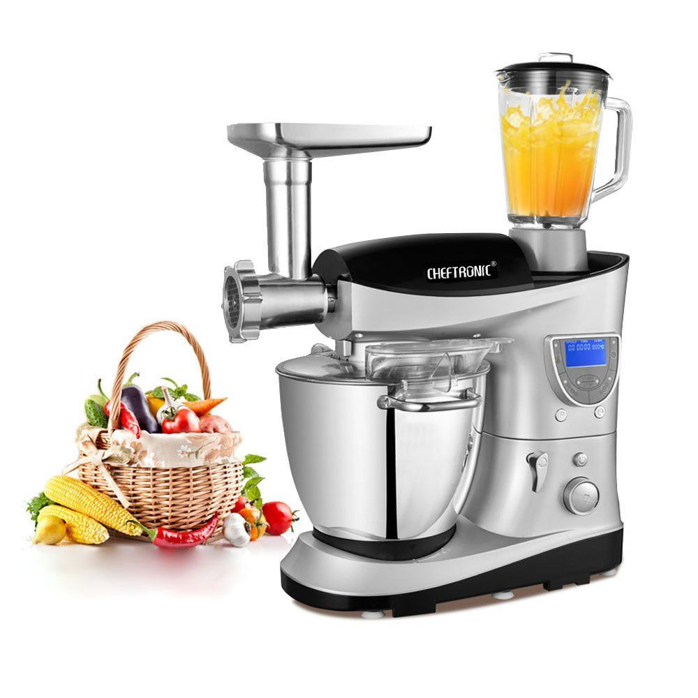 CHEFTRONIC Heating Bowl Multifunction Kitchen Stand Mixer SM 1088 120V 1000W 7 4