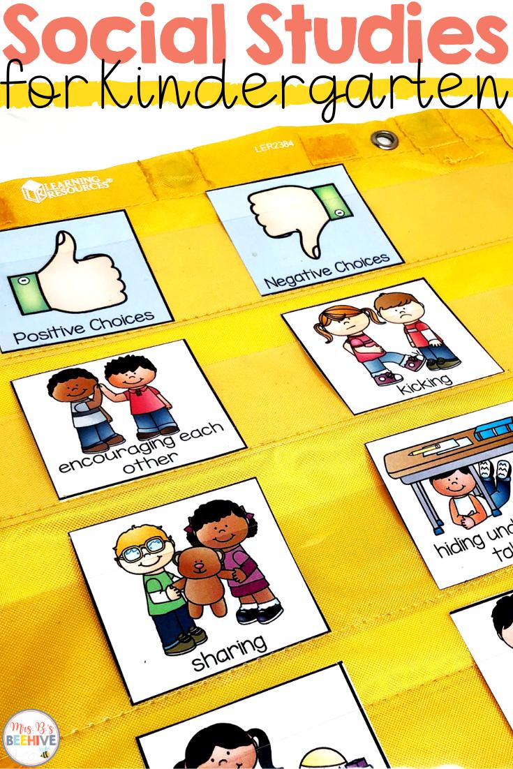 Social Studies Interactive Journals for Kindergarten - Mrs. B's Beehive