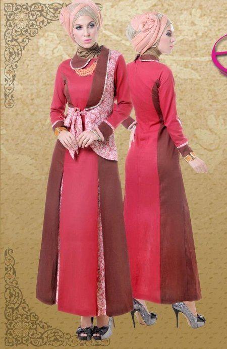 Model Baju Batik Muslim Gamis Trend Baju Batik Terbaru