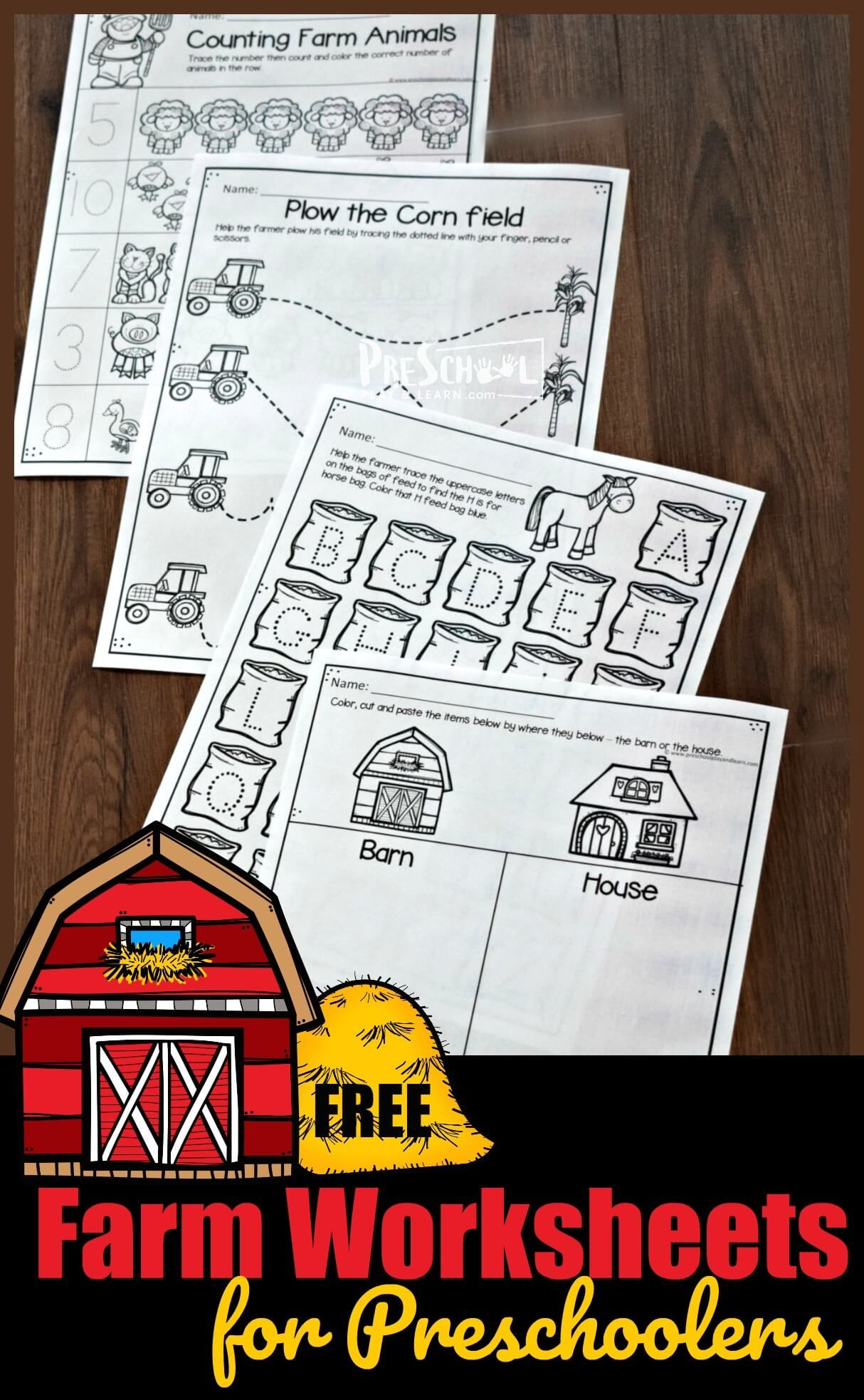 Free Farm Worksheets For Preschoolers