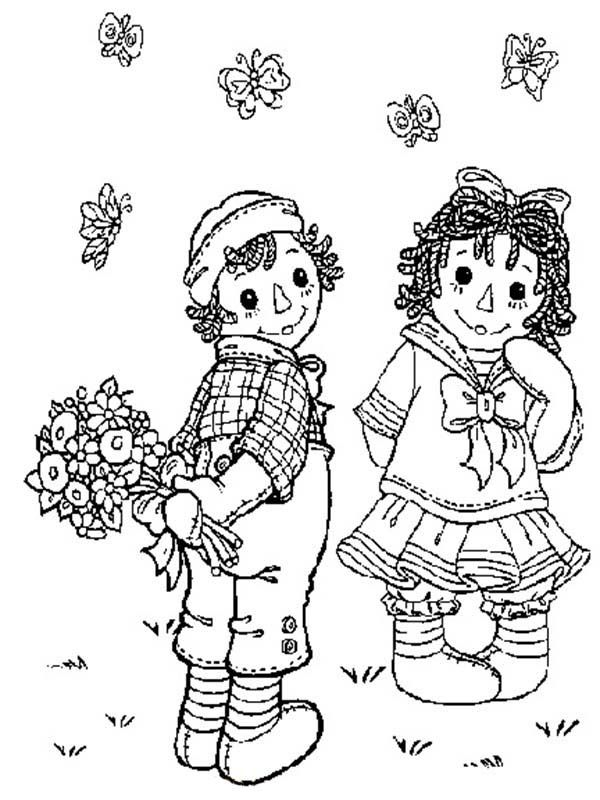 Raggedy Ann Coloring Pages For Raggedy Ann From Andy Raggedy And Andy Coloring Pages