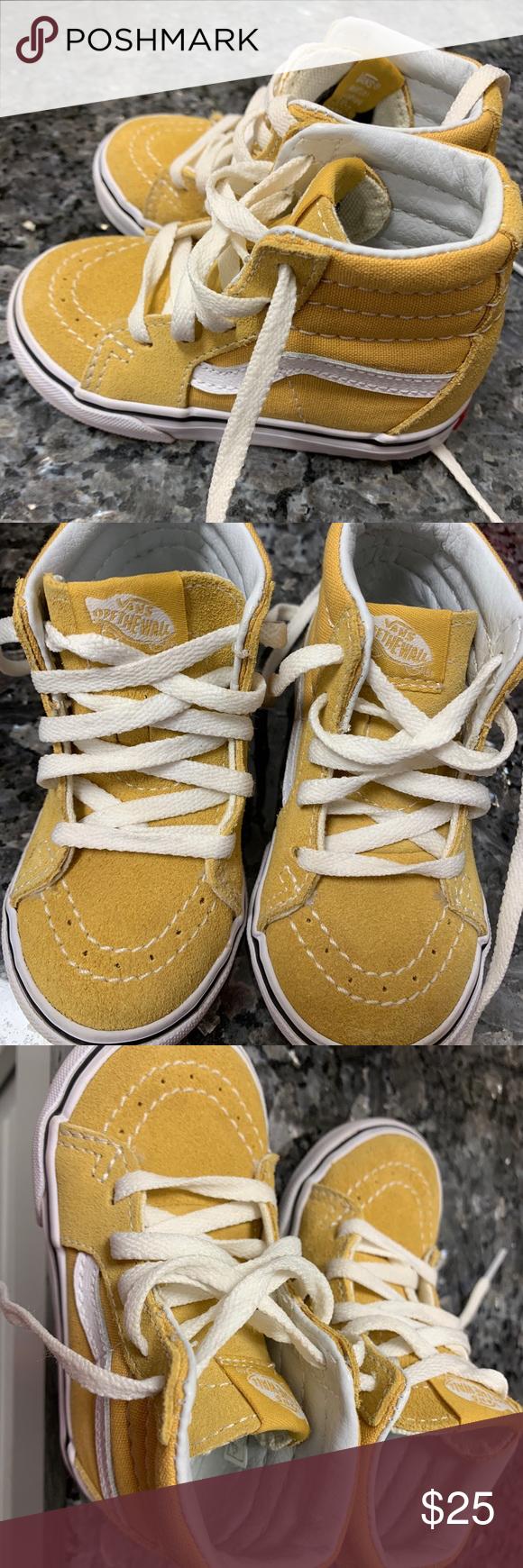 Toddler size 6 Yellow/Mustard High Top