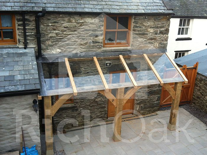 Oak With Glass Roof Glass Porch Glass Roof Pergola With Roof