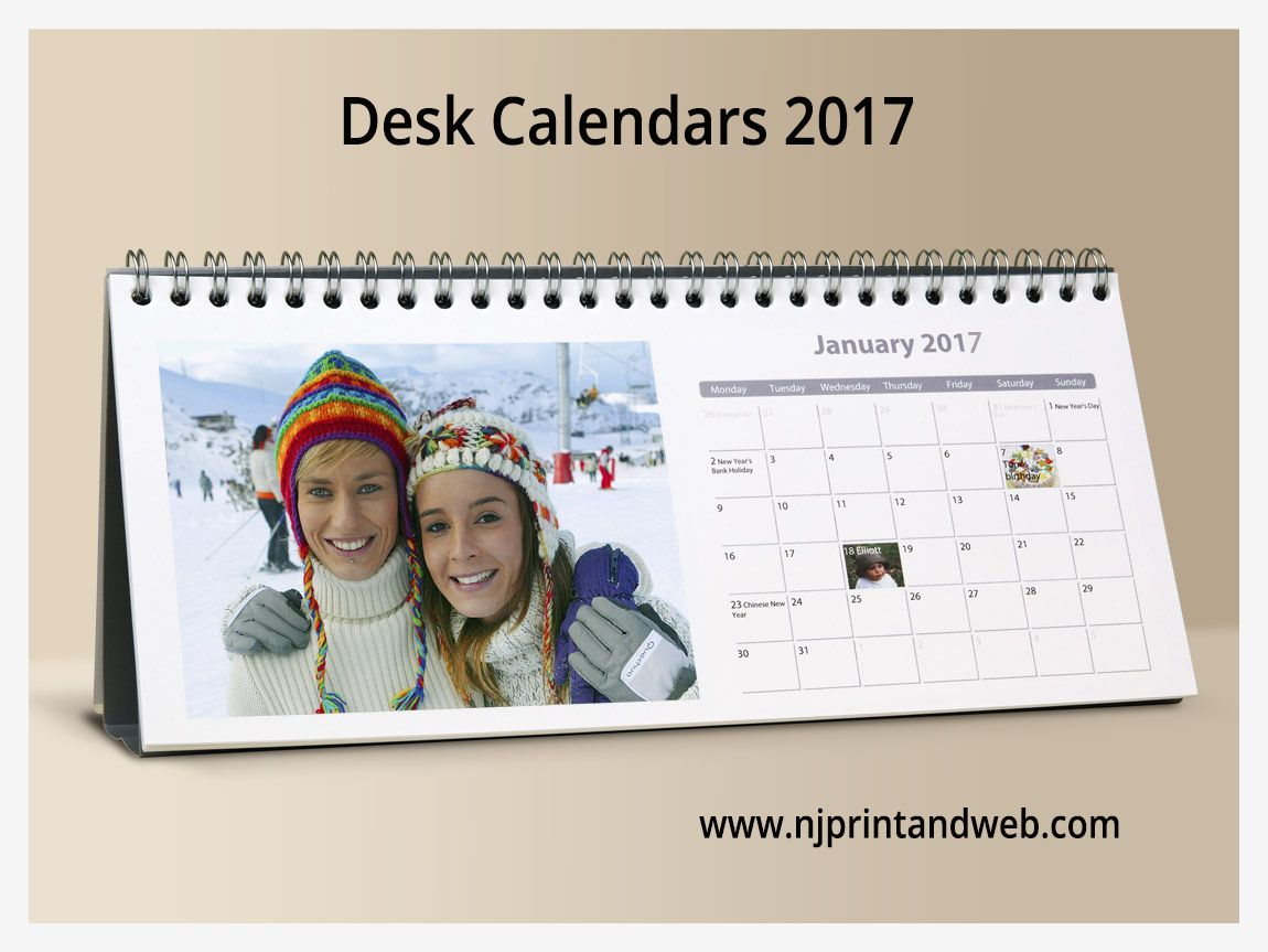 Create Your Own Personalized 2017 Desk Calendar For Family Friends Or Customers Http Www Njprintandweb Desk Calendars Table Calendar Design Table Calendar