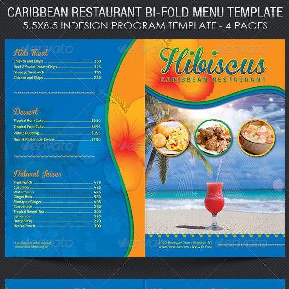 Caribbean Restaurant Menu Template Menu Template Menu Design Caribbean Restaurant