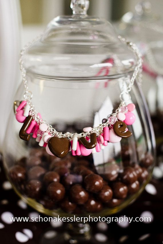 Chocolate Love Necklace by uniquekimmy on Etsy, $155.00