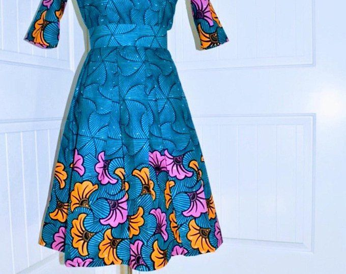 fa68db0484b African women clothing African print fit and flare plus size Ankara ...