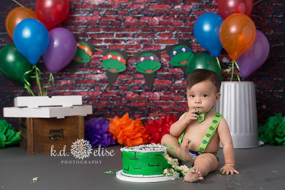 Ninja Turtles Themed Cake Smash Ninja Turtles Birthday Party Teenage Mutant Ninja Turtle Birthday Teenage Mutant Ninja Turtles Party