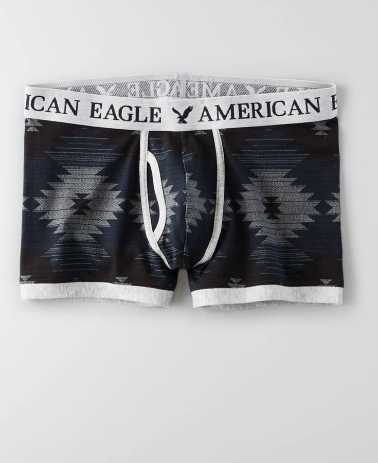 e8e7a7a51df1 American Eagle Patterned Low Rise Trunk, Men's, Grey | *Clothing ...