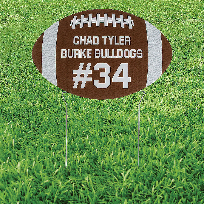Personalized Football Yard Sign in 2020 Football yard