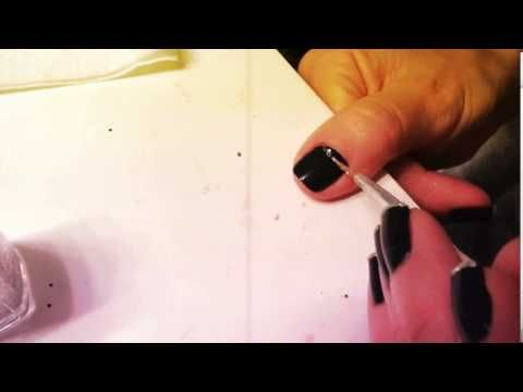 Half Moon Nail Art Tutorial by Holly from The Trendy Nail #nails #nailart