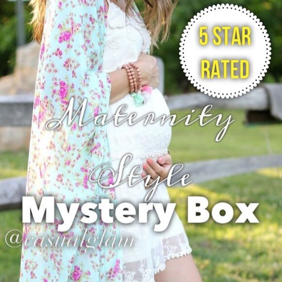 Maternity Style Mystery Box (5 PIECES) Get a styled maternity mystery box with 5 items. All on trend items . ITEMS ARE NEW WITH TAGS. Brands might include : Motherhood , Gap, Bella Moda & More. last pics is actually me when I was pregnant. NO OFFERS•PRICE IS FIRM• NO BUNDLE DISCOUNT• NO TRADES• BUNDLED ORDERS ON MYSTERY BOXES WILL BE CANCELLED!  Motherhood Maternity Dresses