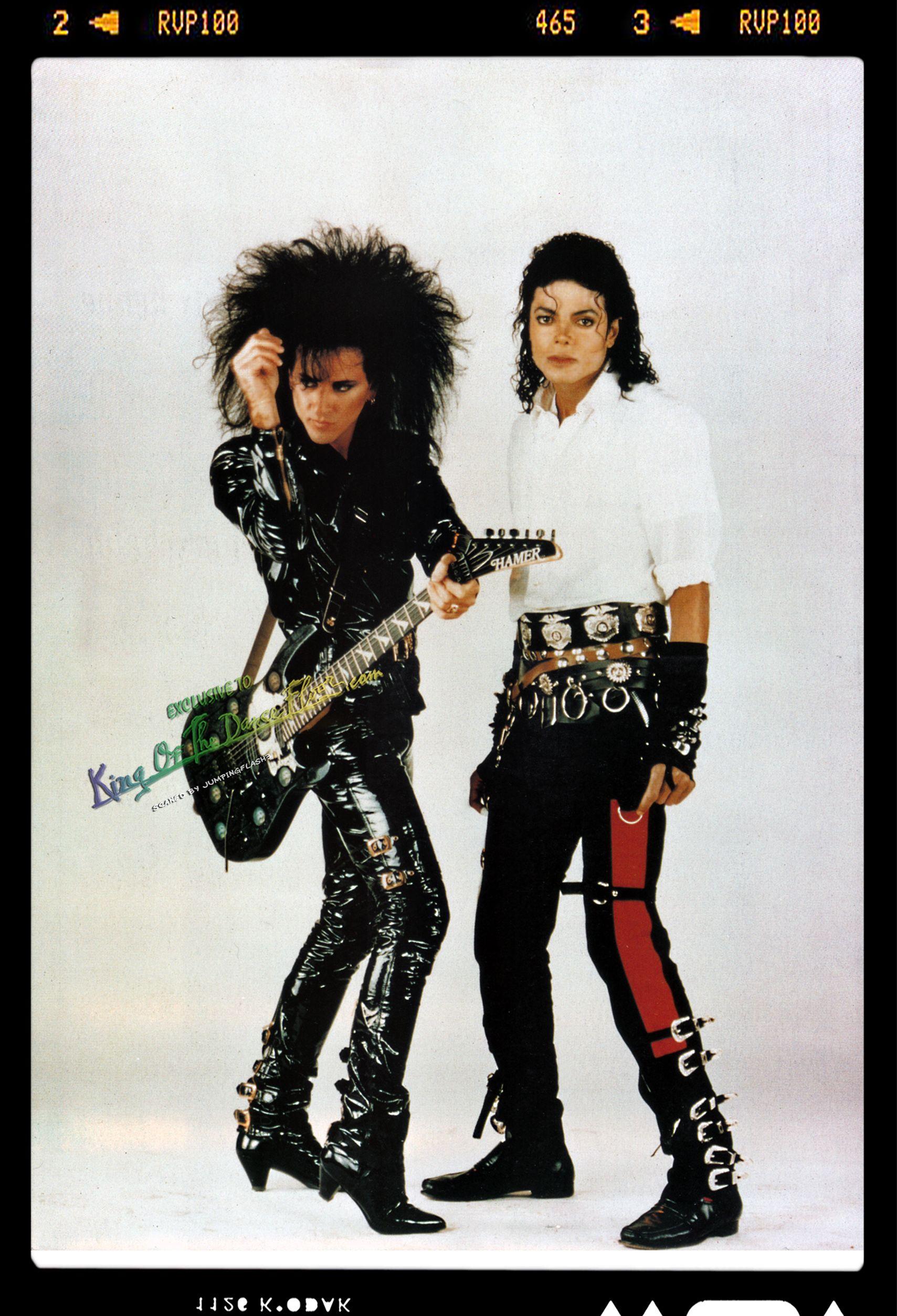 Steve Stevens With Michael Jackson At The Top Of Their Game Michael Jackson Michael Jackson 1987 Michael Jackson Bad Era