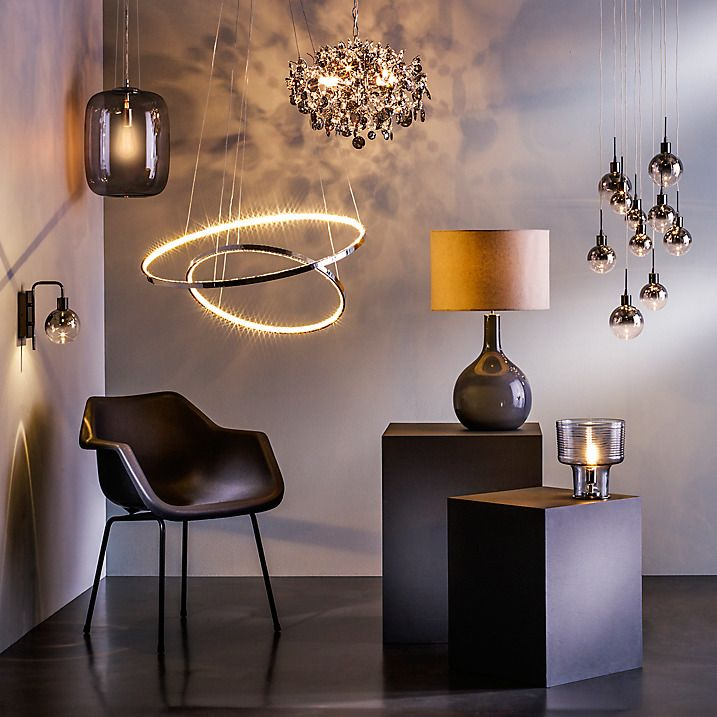 Bathroom Light Fixtures John Lewis dano led ombre lustre single wall light, clear/black | blacked