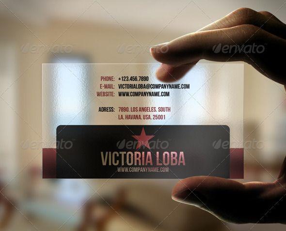 Modern Transparent Business Card Transparent Business Cards - Transparent business cards template