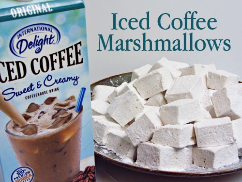 Iced Coffee Marshmallows #flavoredmarshmallows