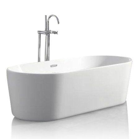 Sem Saimaa vrijstaand bad 178x81x58cm wit - Badkamer & Co | Badkamer ...