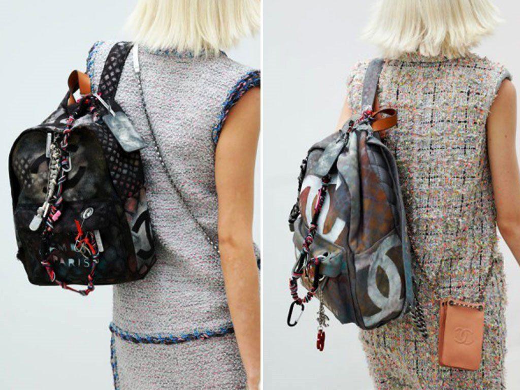 1eabb0180283 Chanel Graffiti Logo Backpack Spring 2014 Runway | DIY - fashion ...