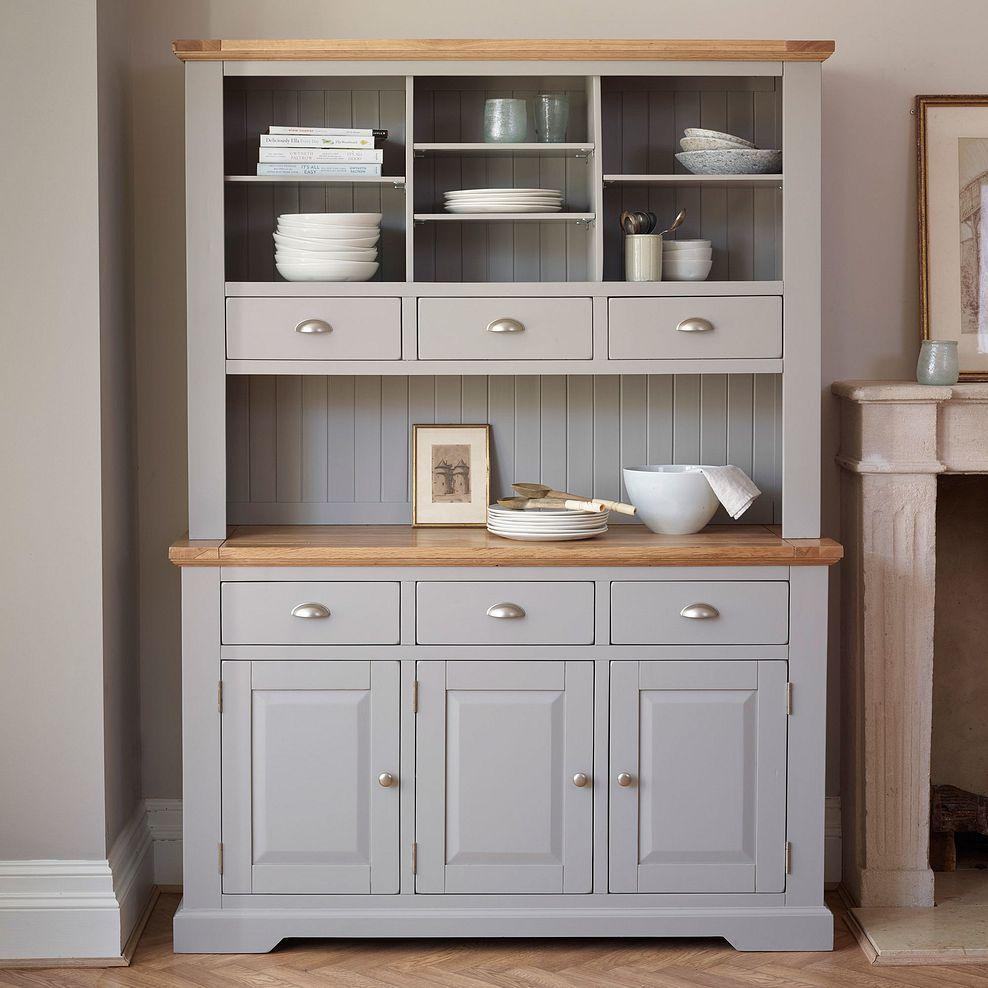 Grey Dresser St Ives Oak Furnitureland Open Plan Kitchen Dining Living Dining Room Small Decor Dresser Top [ 988 x 988 Pixel ]
