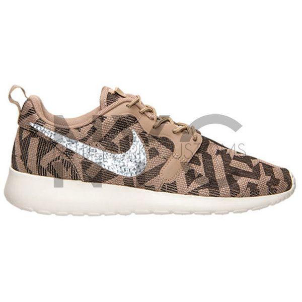 5e00b6d2f5a1d Nike Roshe Run Jacquard Desert Camo Swarovski Crystal Accent Bling ...