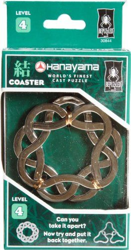 Coaster Hanayama Cast Metal Brain Teaser Puzzle Level 4 Check Out The Image By Visiting The Link Note It Brain Teasers Brain Teaser Puzzles Puzzles For Kids