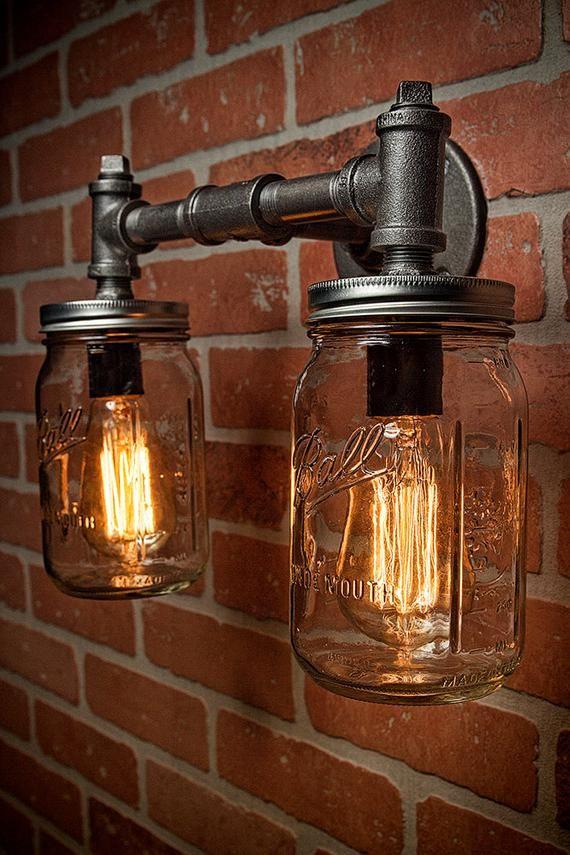Industrial Lighting - Lighting - Mason Jar Light -