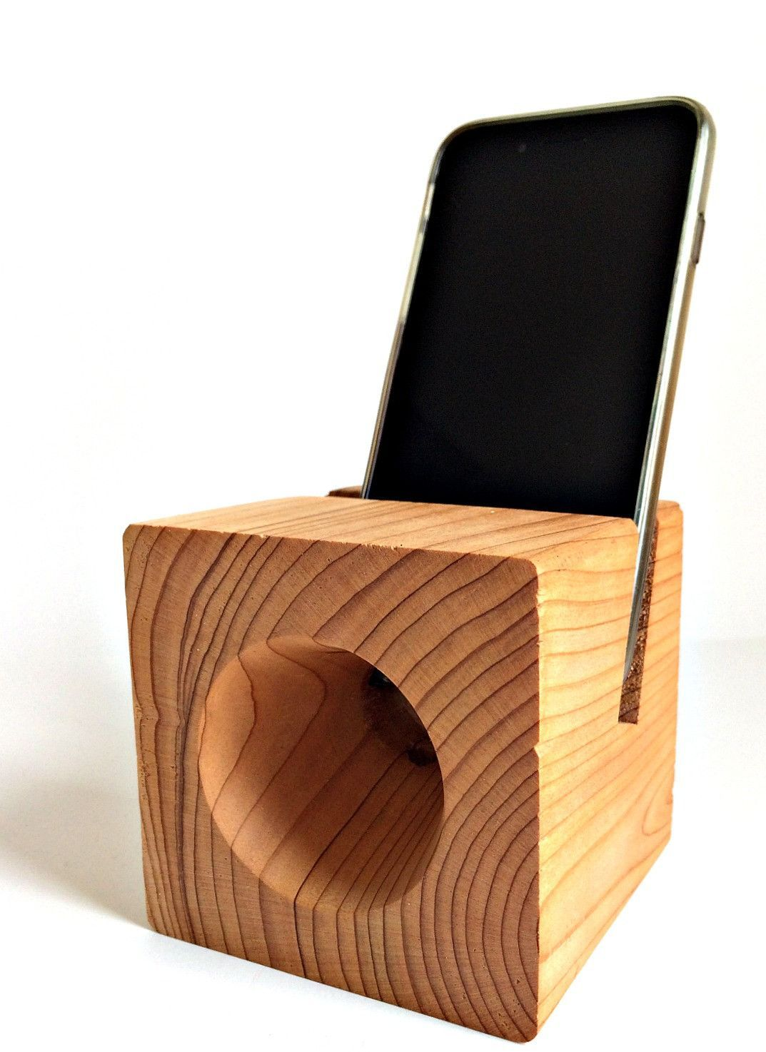 Cedar Handmade Phone Dock & Acoustic Amplifier | Wood ...