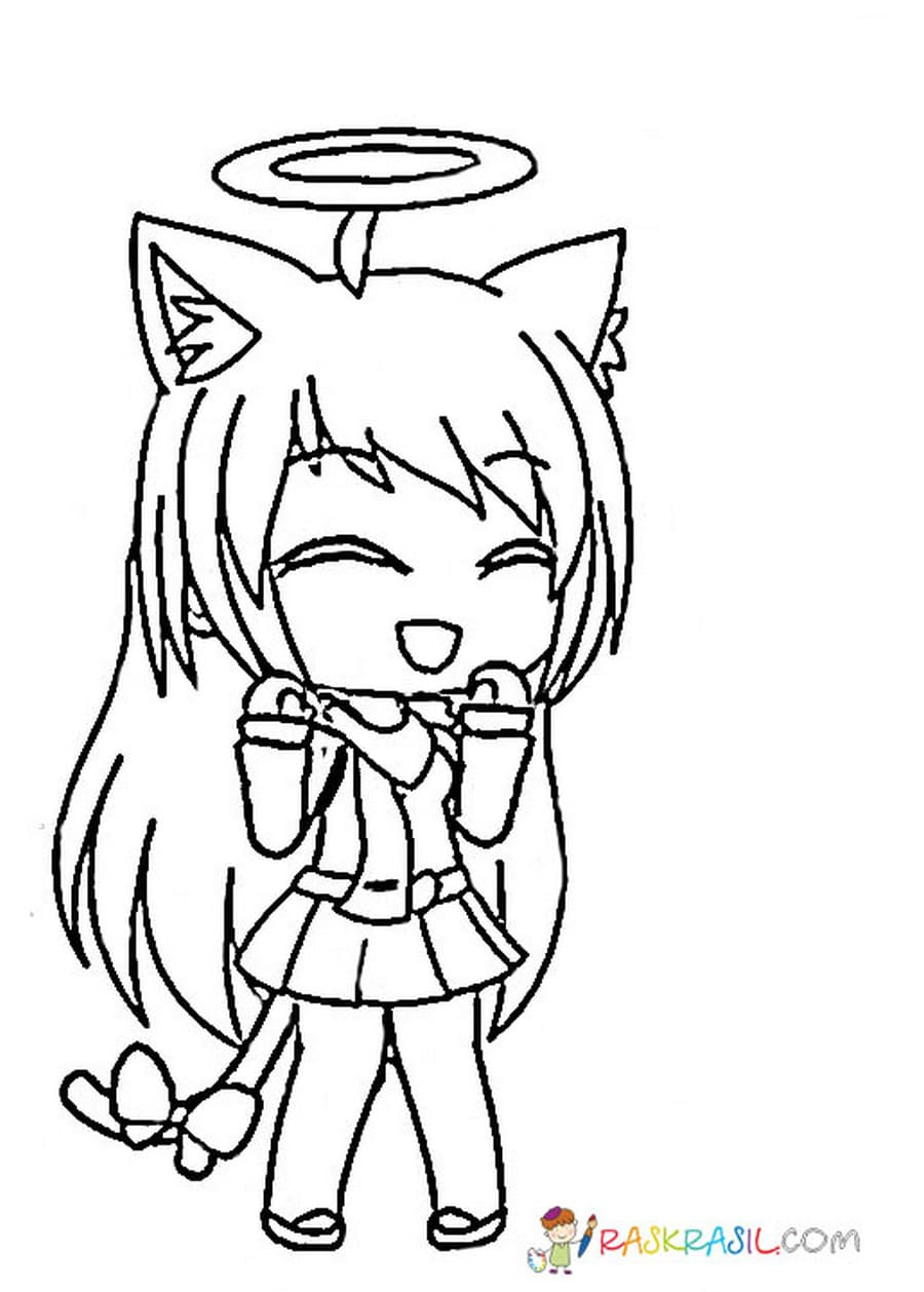 Gacha Life Coloring Pages Unique Collection Print For Free Cute Coloring Pages Coloring Pages Cartoon Coloring Pages