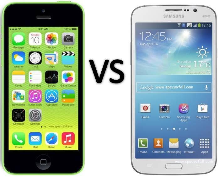 Compare Apple iPhone 5C vs Samsung Galaxy Mega 5.8